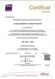 Certification ISO TS 16494 Martin Joseph Vougy