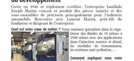 Interview de Mr Laurent Martin dans le magazine Entreprendre