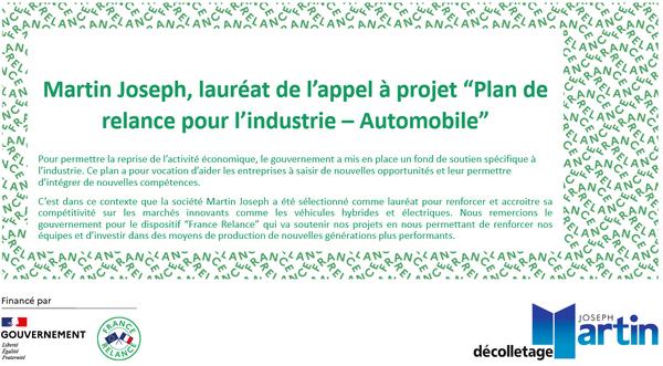Plan de relance pour l'industrie automobile